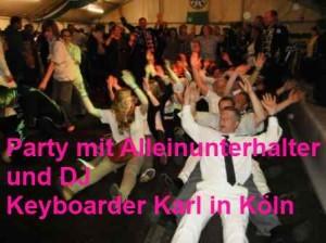 Partyspiele und Entertainment Alleinunterhalter Köln Dj Köln
