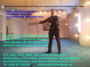 Alleinunterhalter Koeln mit Party Dj Koeln