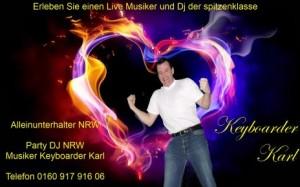 Party Dj Koeln mit Herz Alleinunterhalter Koeln und Dj Koeln Keyboarder Karl