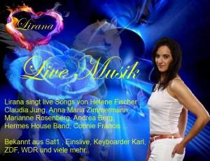 Musikduo Köln Alleinunterhalter Köln Sängerin Lirana