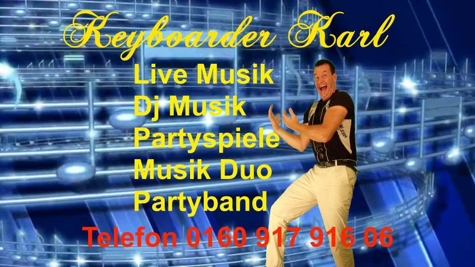 Coverband NRW Hier Band Mitglied Keyboarder Karl der als Alleinunterhalter NRW und Paryt DJ NRW auch als SOLO Musiker buchbar ist.