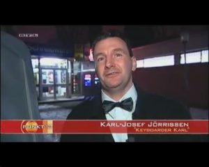 Alleinunterhalter Köln - Keyboarder Karl hier bei RTL Punkt 12 - Seriöser Entertainer und Party Discjockey Köln !