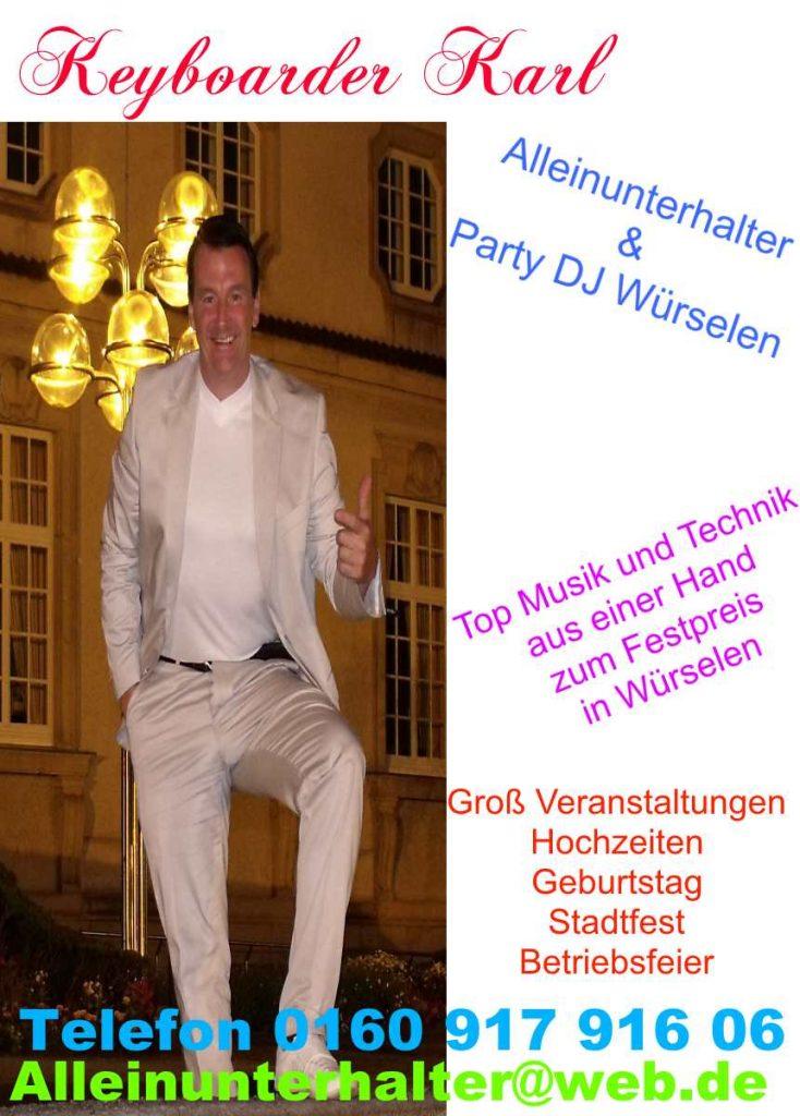 Alleinunterhalter Würselen - Party DJ Würselen und Live Musik in Würselen - Keyboarder Karl