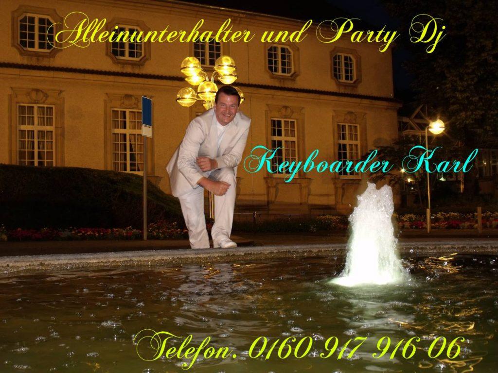 Keyboarder Karl - Alleinunterhalter Eschweiler und Party DJ Eschweiler zum Festpreis