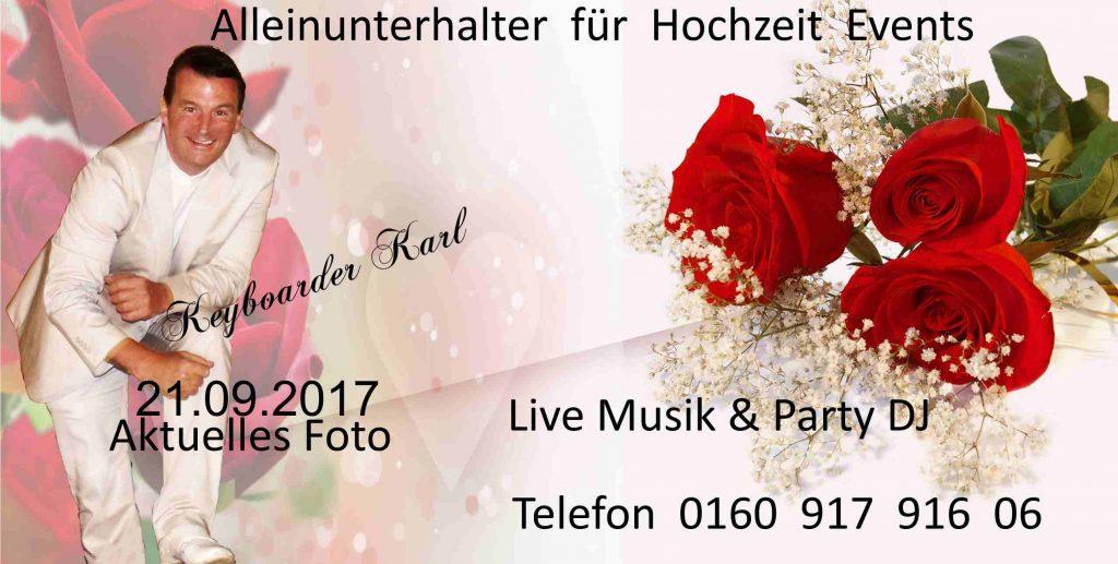 Alleinunterhalter für Hochzeit Events mit live Musik und DJ