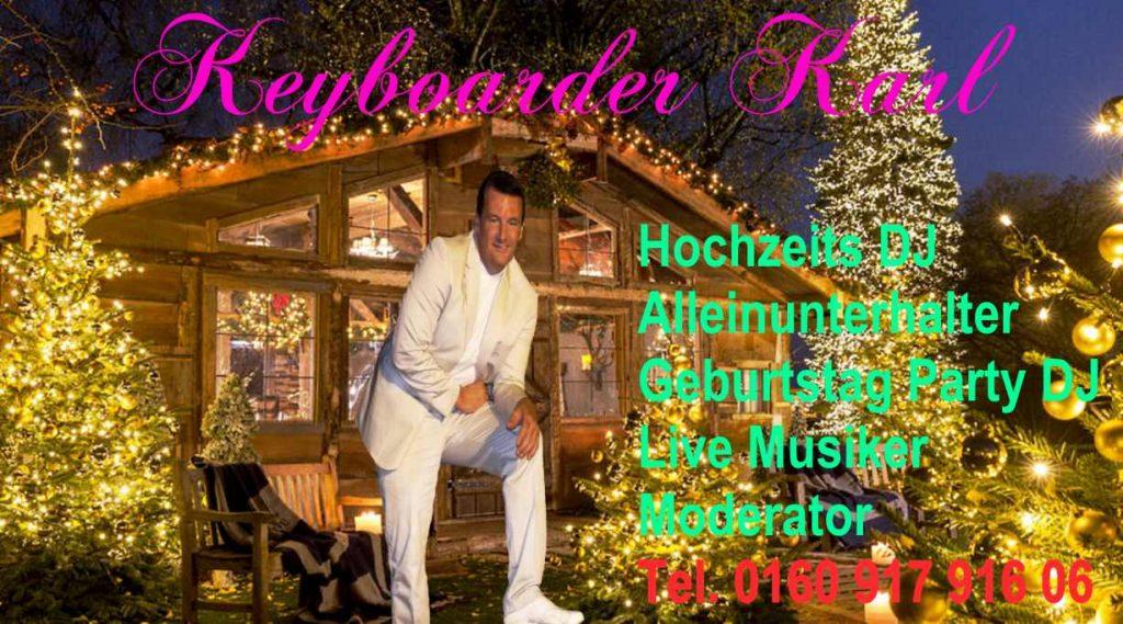 Alleinunterhalter mit Hochzeits DJ und Live Musik sowie kompletter Musik und Licht Technik zum Festpreis in Köln