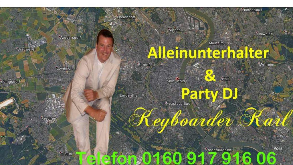Alleinunterhalter Köln - Party DJ Köln - Live Musik Köln - Hochzeit Geburtstag Stadtfest Schützenfest Musiker zum Festpreis im Kreis Köln