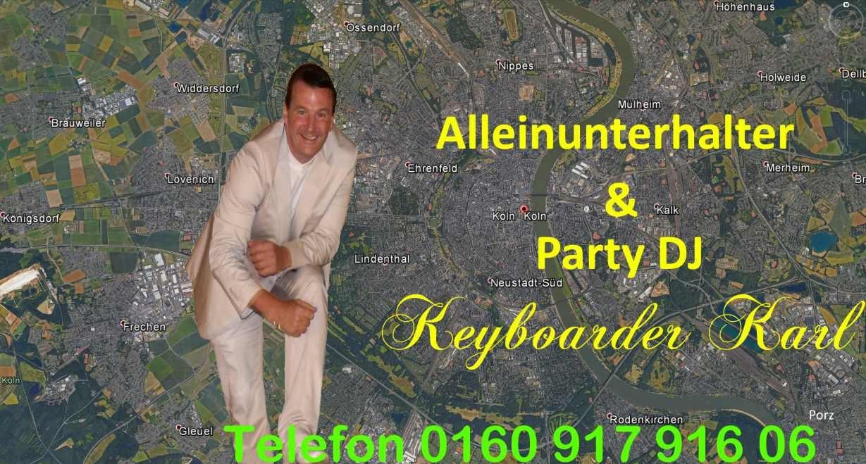 Alleinunterhalter Köln und DJ Köln mit top Anlage – 70 Euro Stunde