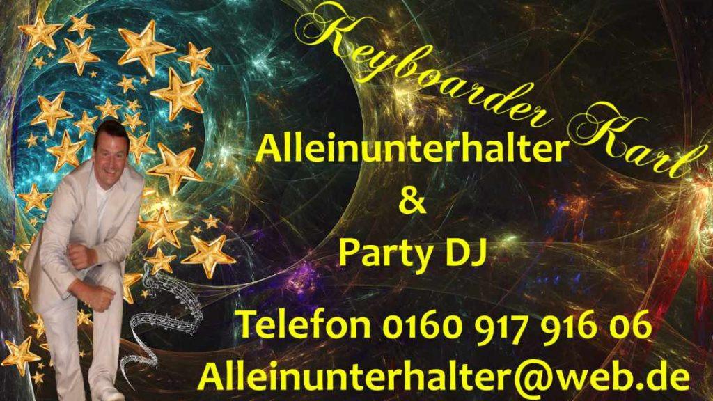 Alleinunterhalter Baesweiler - Party DJ Baesweiler, Entertainer Baesweiler mit live Musik und Party DJ