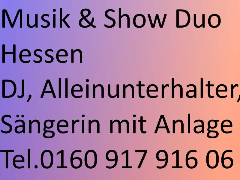 HESSEN Musik und Show Duo Hessen zum Festpreis buchen
