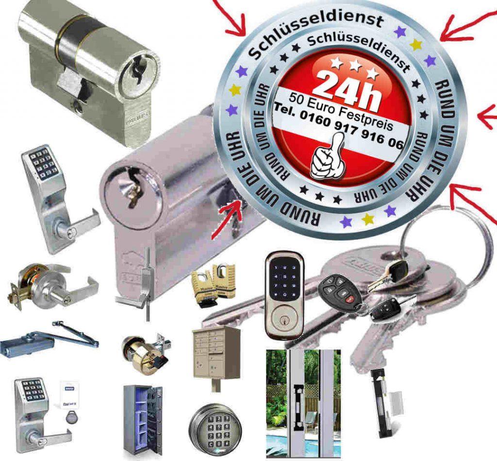 Schlüsseldienst Notdienst Rund um die Uhr - Alles aus einer Hand zum 50 Euro Festpreis