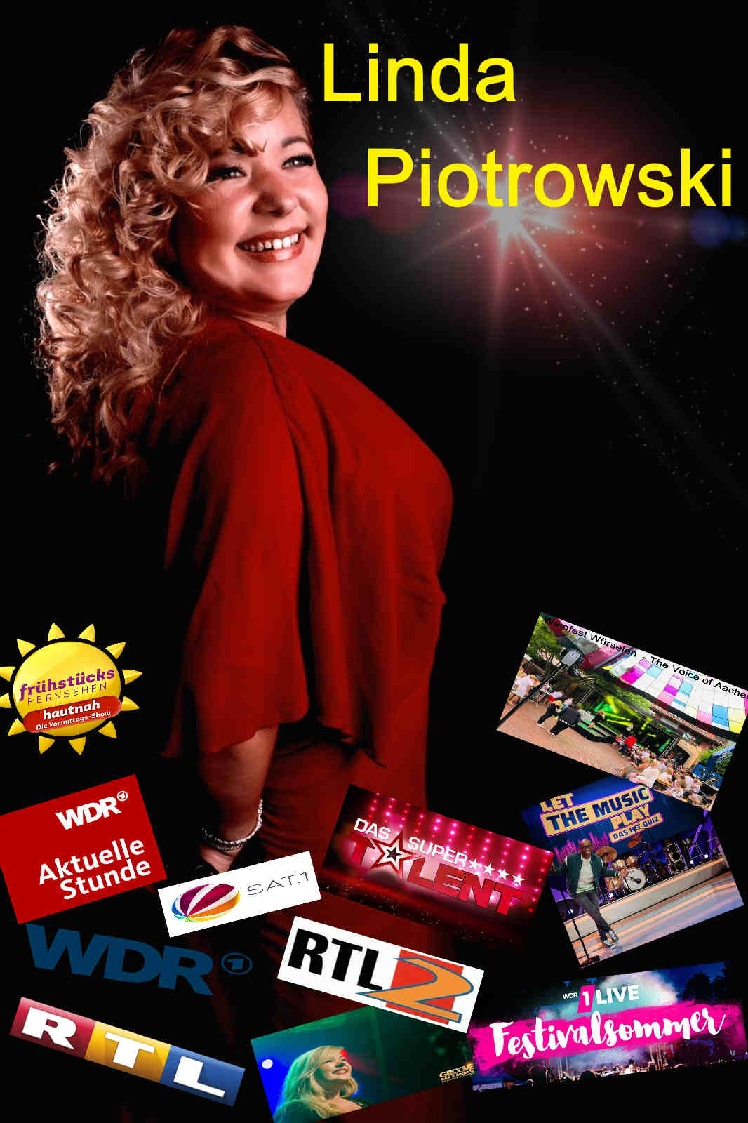 Sängerin Linda - Aus TV Rundfunk und den Medien überall bekannt